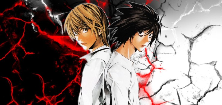 L and Light en Death Note